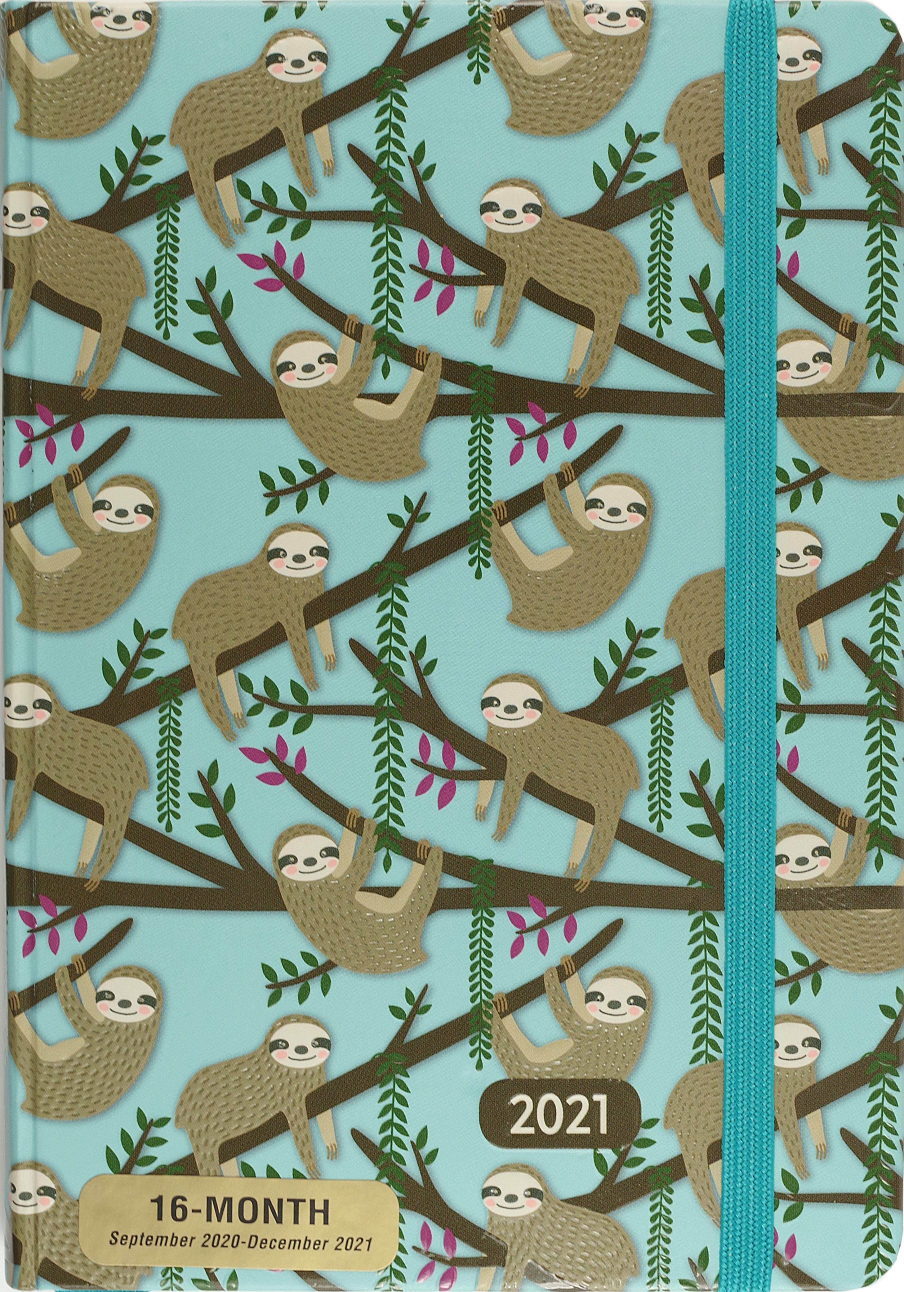 2021 Sloths 16-Month Planner
