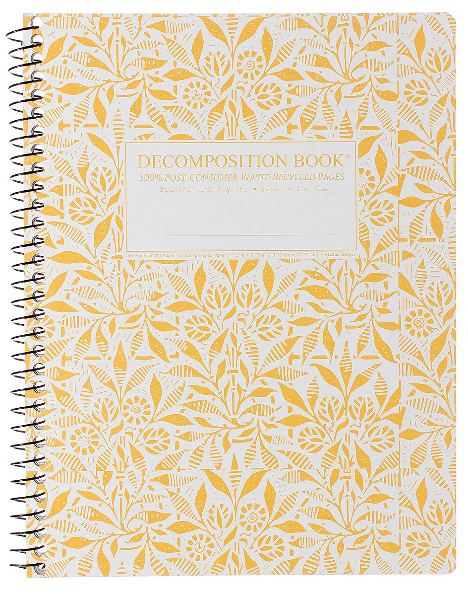 Fields of Plenty Decomposition Spiral Notebook