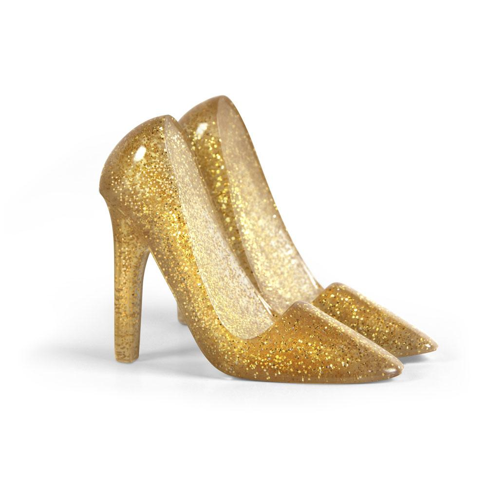 Glittery Gold Heels Pumped Up Phone Stand