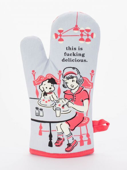 This Is Fucking Delicious Oven Mitt front