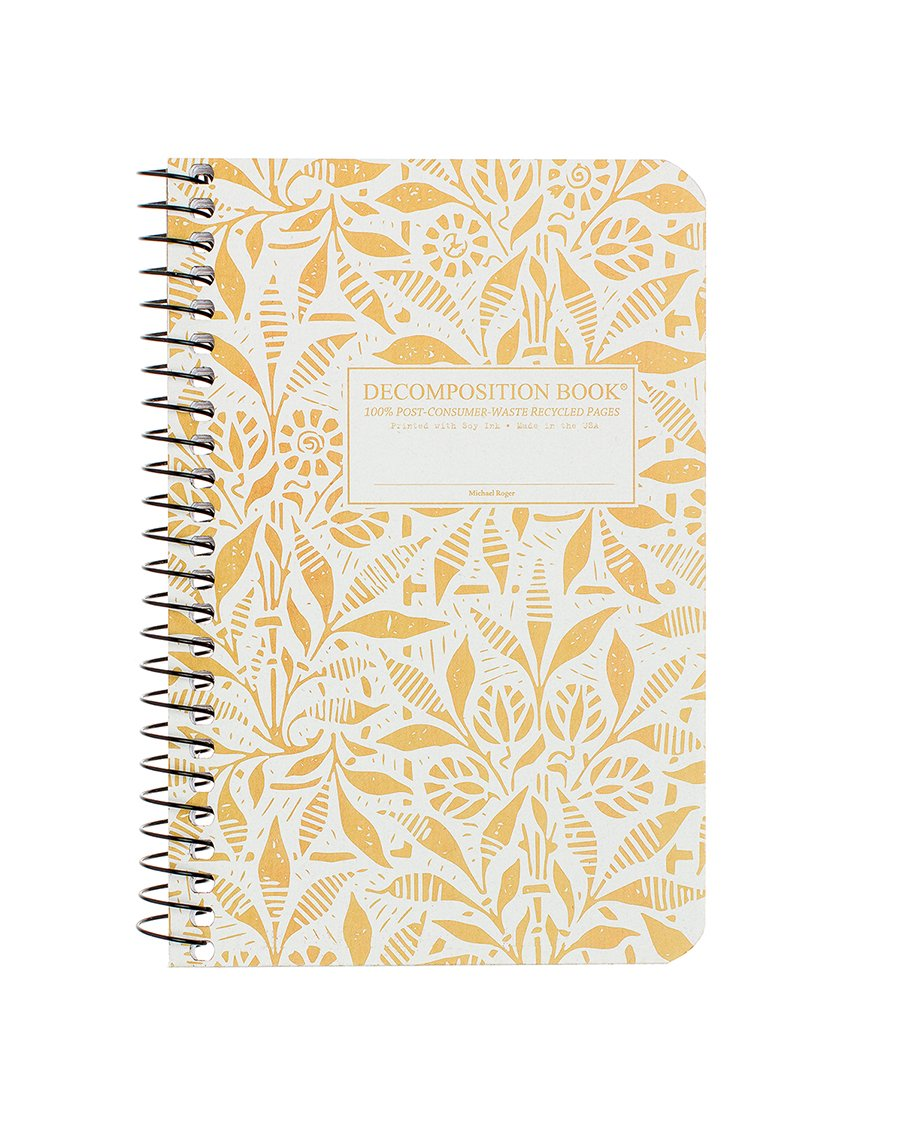 Fields of Plenty Pocket Sized Decomposition Spiral Notebook