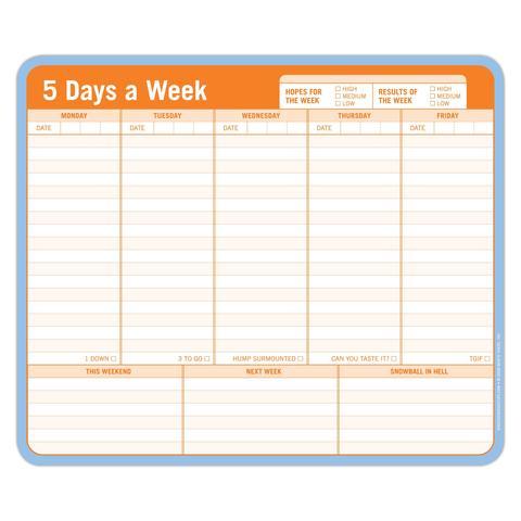 5 Days A Week Notepad & Mousepad