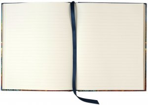 Ruled pages with ribbon marker