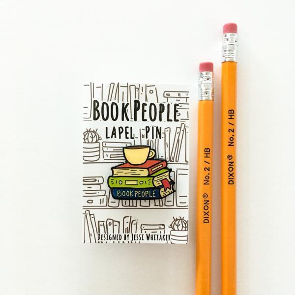 BookPeople enamel pin