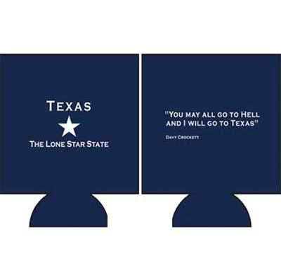 Front and back Davy Crockett Koozie