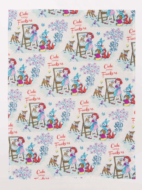 Expanded view of dishtowel