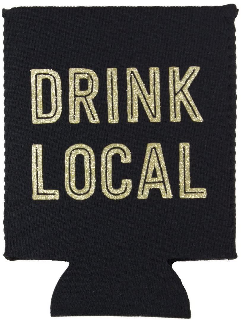 Texas Drink Local Koozie back