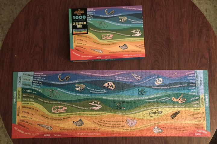 Geological Time 1000 Piece Puzzle Completed
