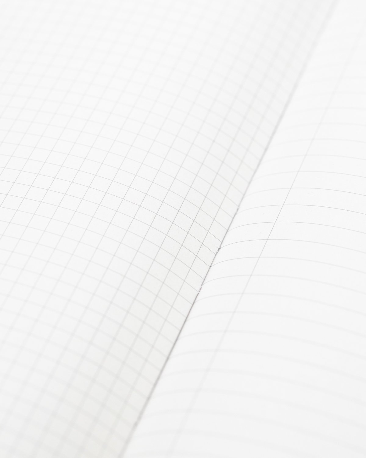 Grid and ruled pages inside