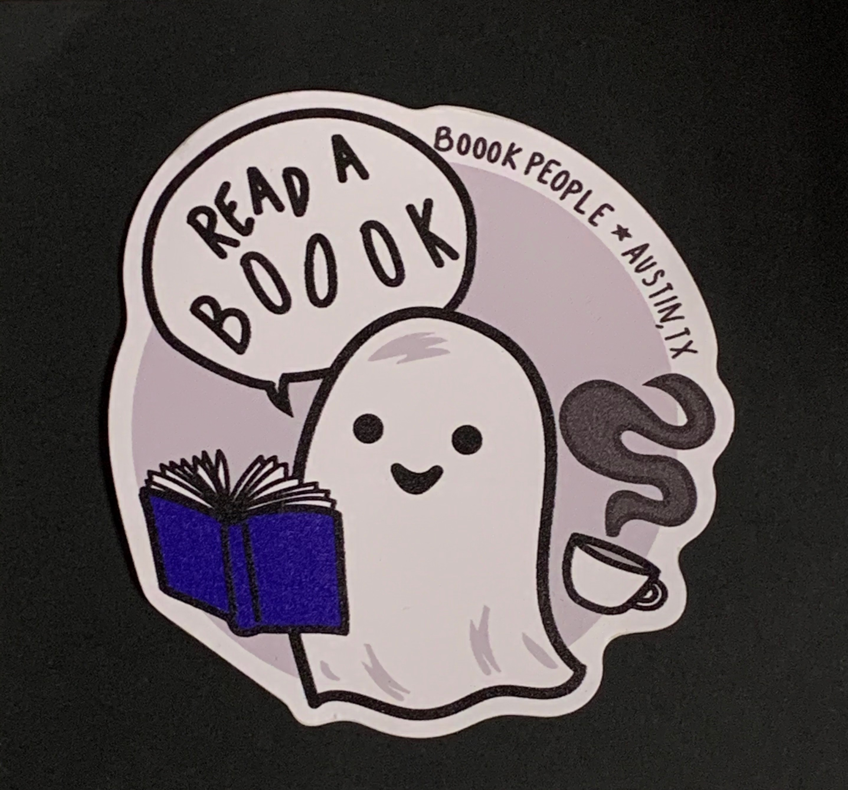 Read a Boook Ghost Sticker