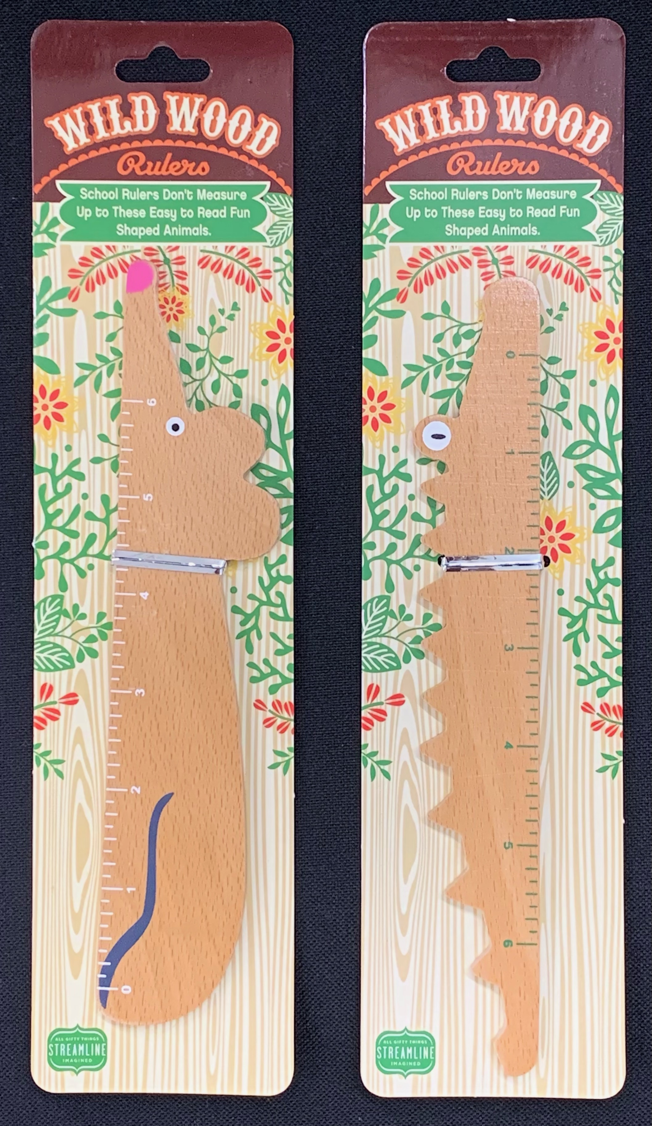 Mouse and Alligator Wild Wood Rulers