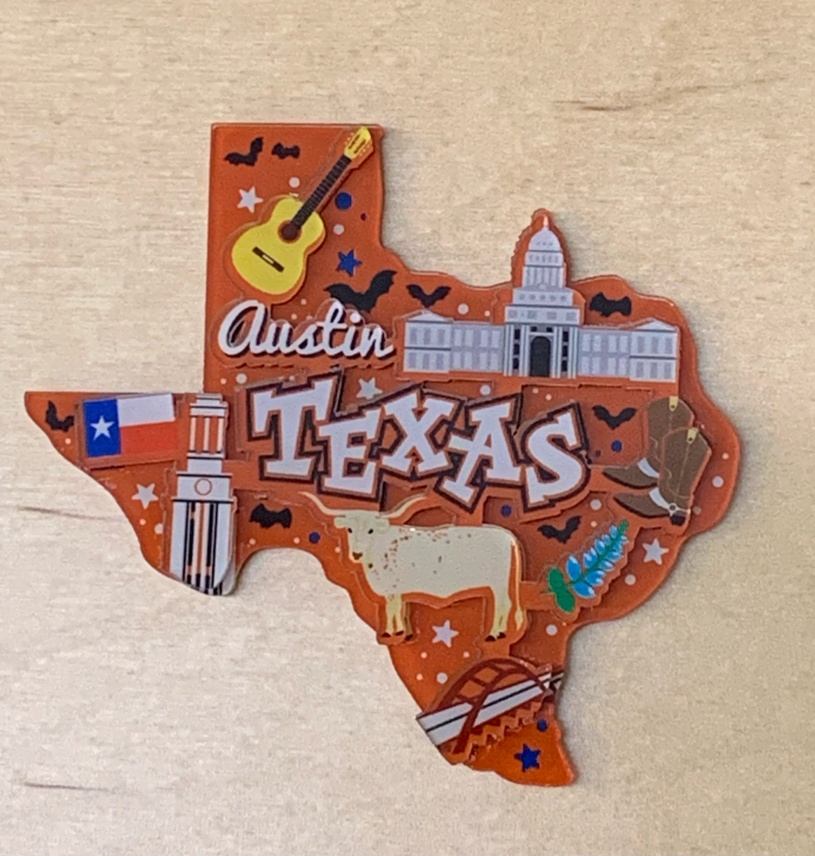 Texas Shaped Magent