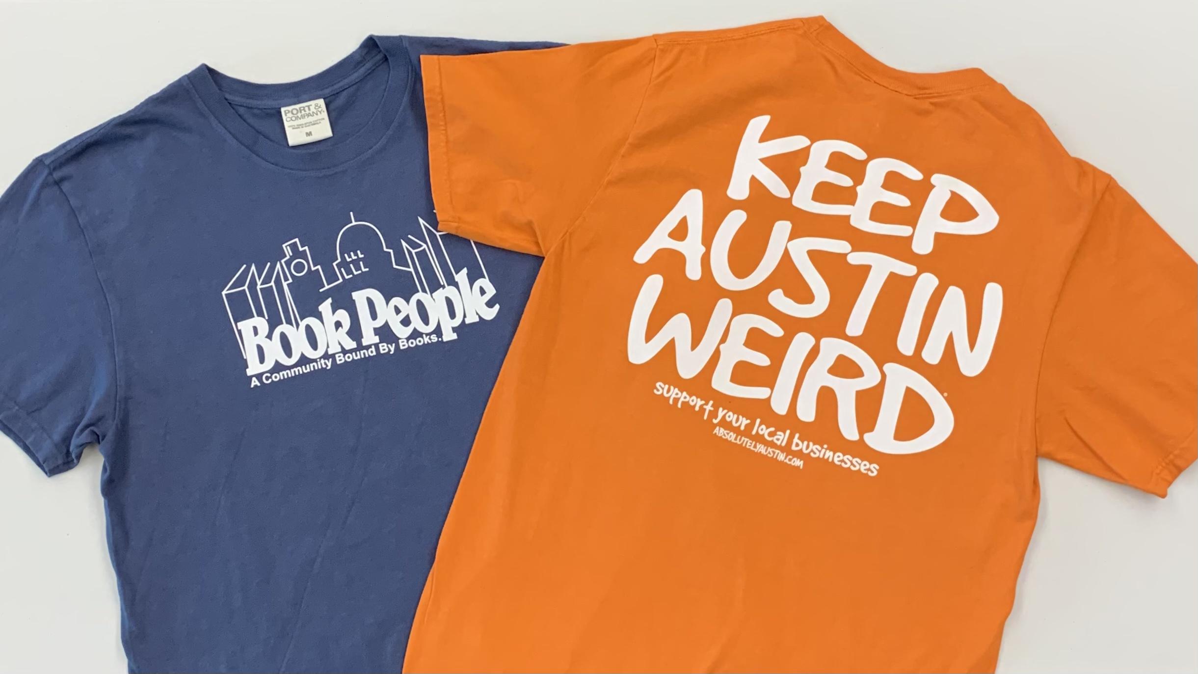 Front & Back: BookPeople Keep Austin Weird Shirt