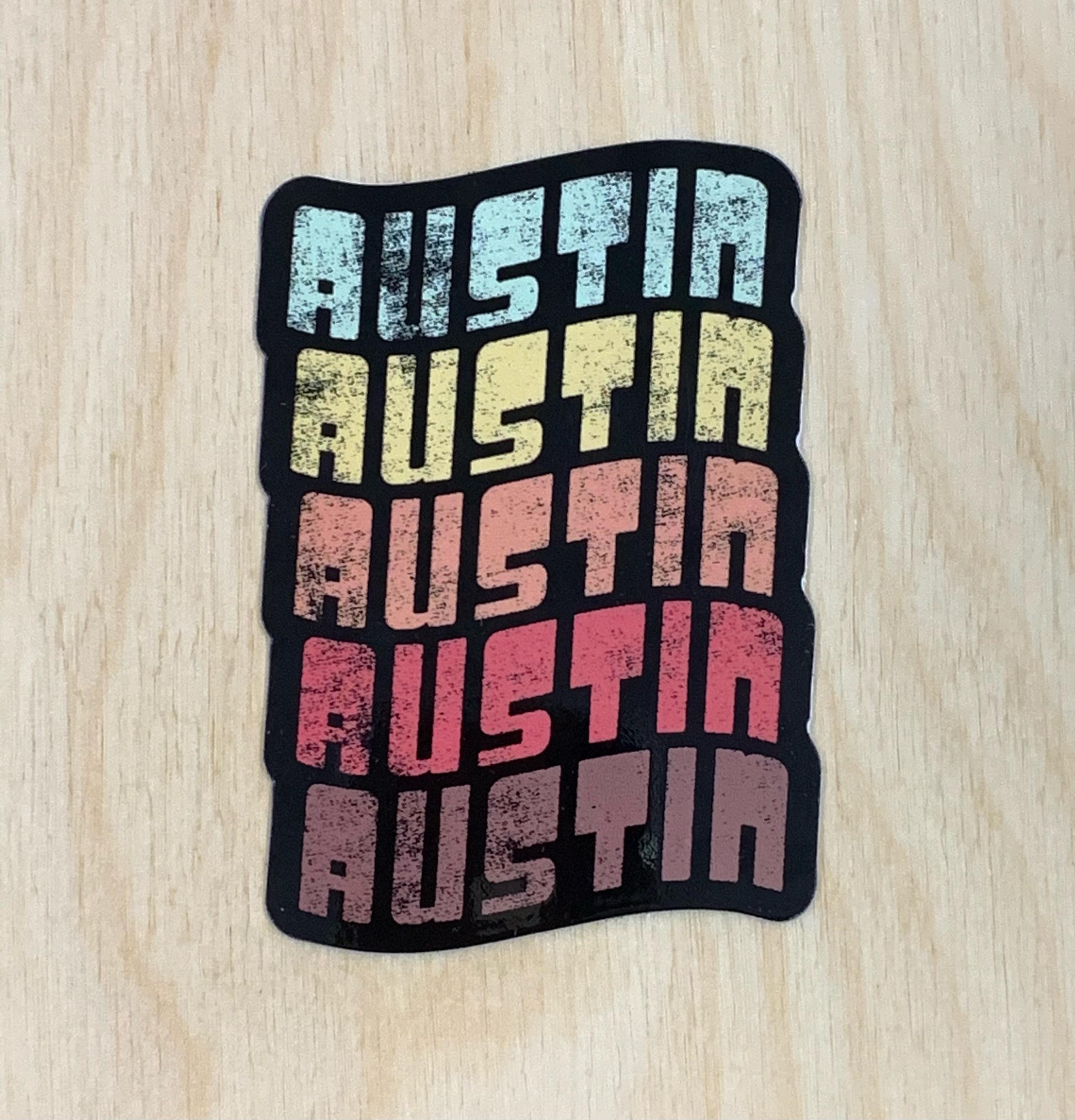 Retro Austin Sticker