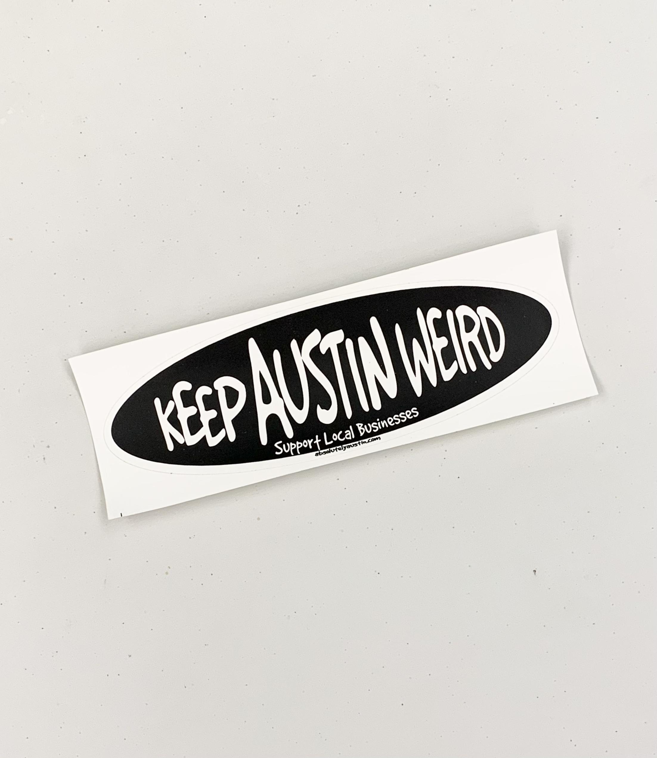 Keep Austin Weird Bumper Sticker