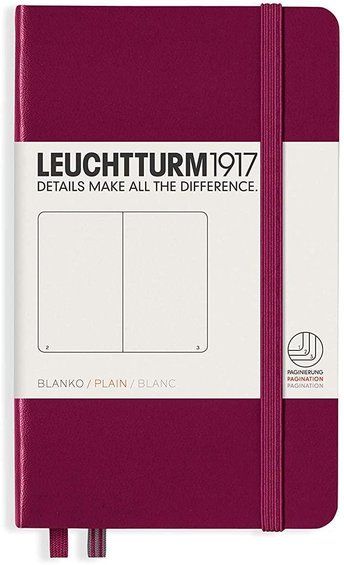 Port Red Plain Pocket Leuchtturm Notebook