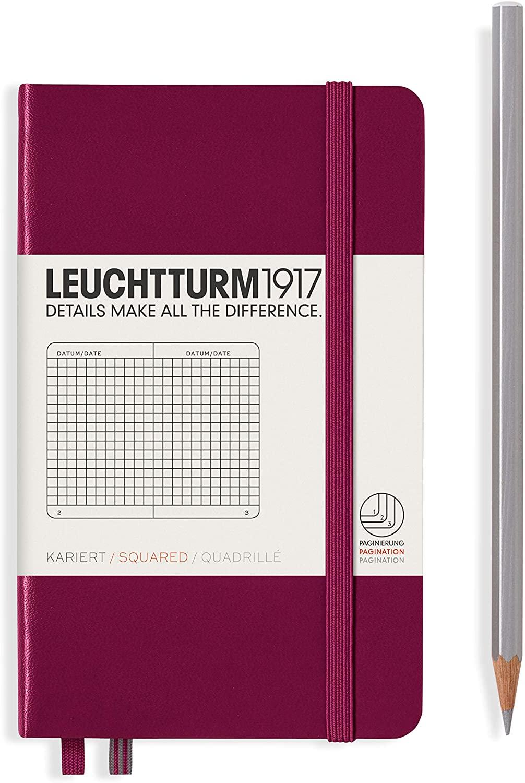 Port Red Squared Leuchtturm Pocket Notebook