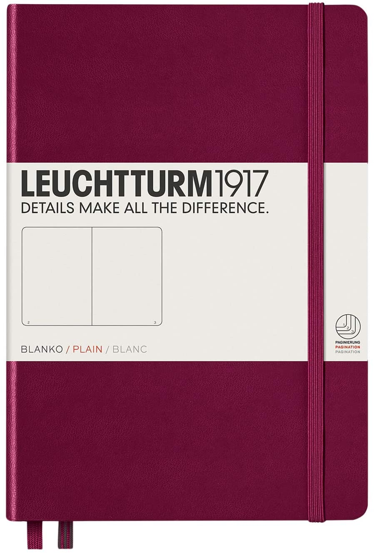 Port Red Medium Plain Notebook