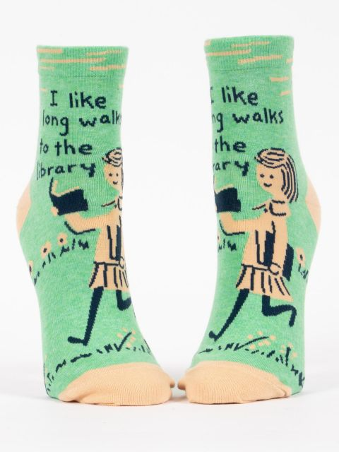 I Like Long Walks to the Library Socks
