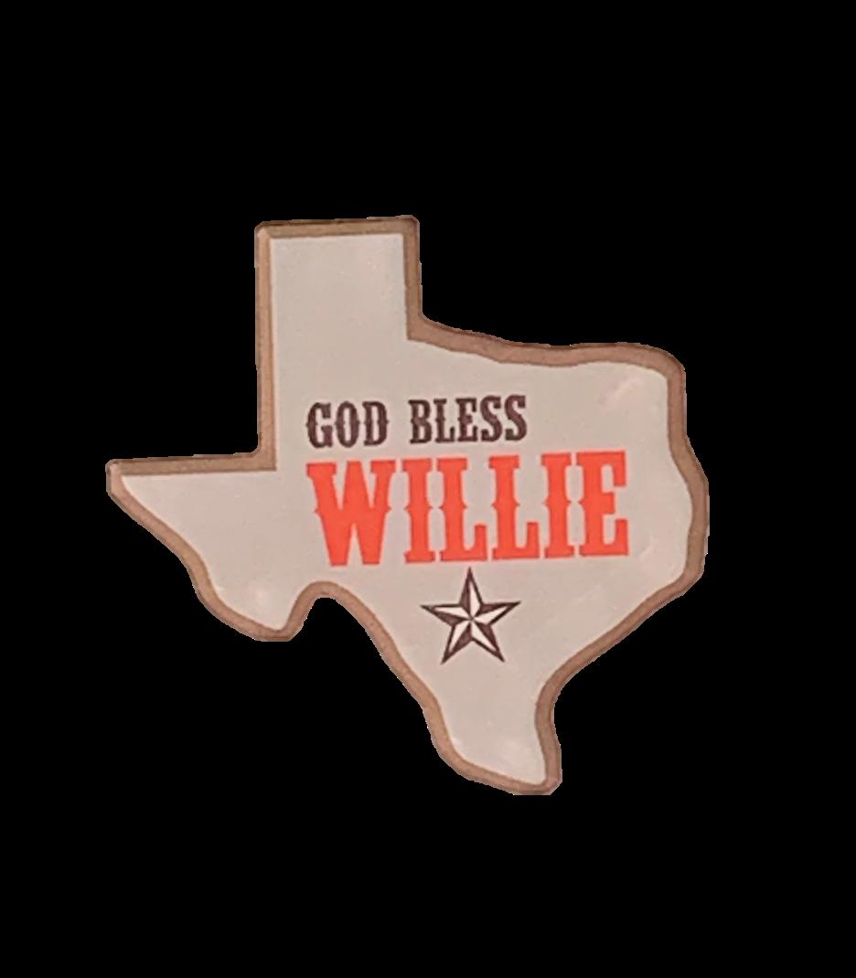 God Bless Willie Magnet