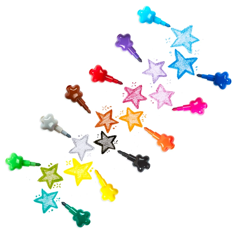 Star crayons in action