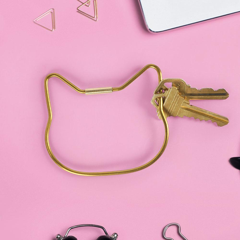 Cat Key Ring with keys attached