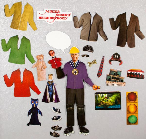 Detail of some items included in this magnetic wardrobe