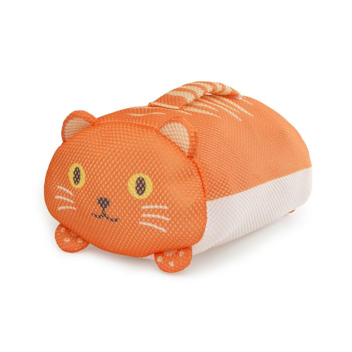 Orange Handy Cat Laundry Bag