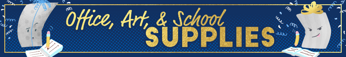 Office School Art Supplies banner