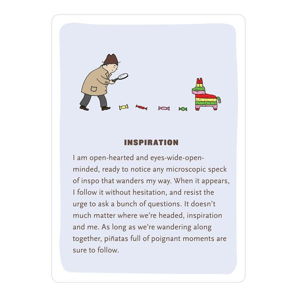 Example of an Affirmators card