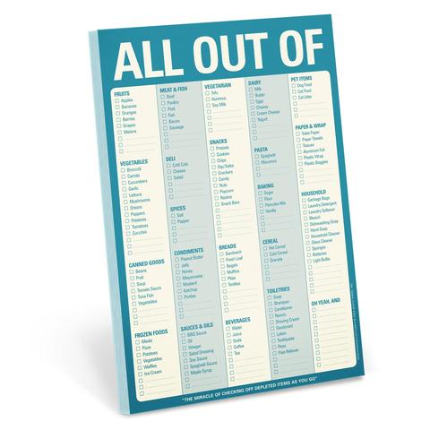 All Out Of Magnetic Notepad [Blue]