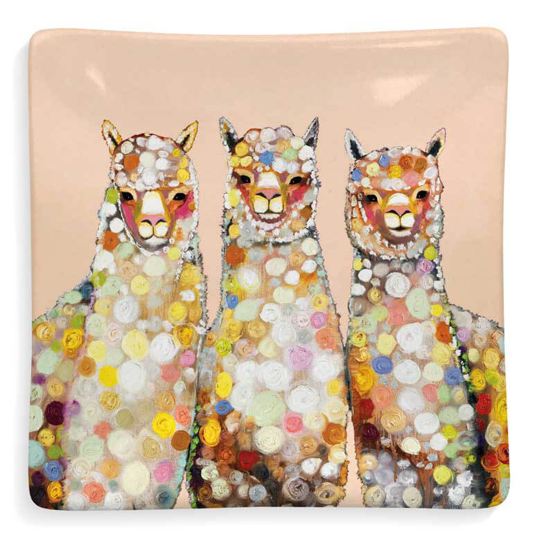 Alpaca Trio Ceramic Trinket Tray