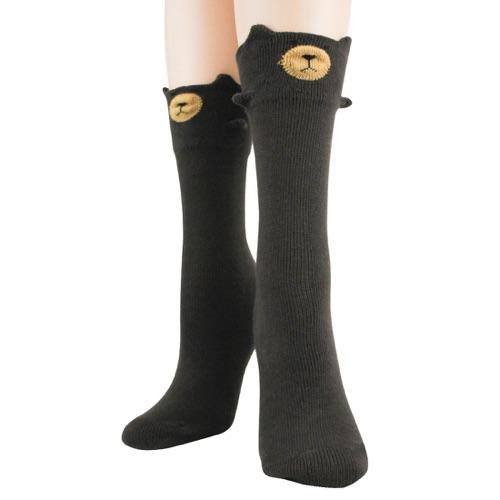 3D Brown Bear Socks