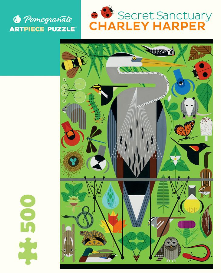 Secret Sanctuary by Charley Harper 500-Piece Jigsaw Puzzle