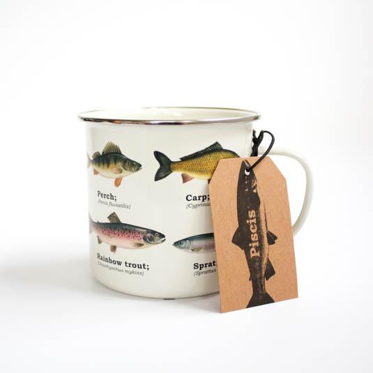 Piscis Fish Enamel Mug