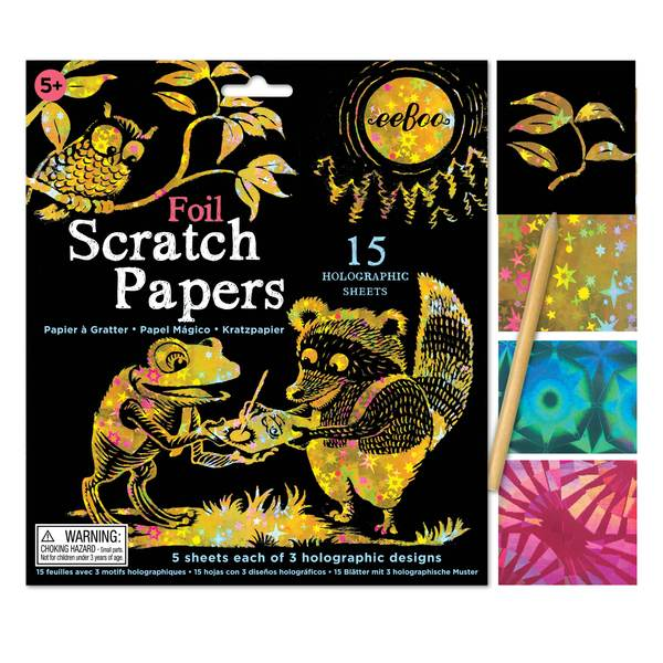 Holographic Foil Scratch Papers