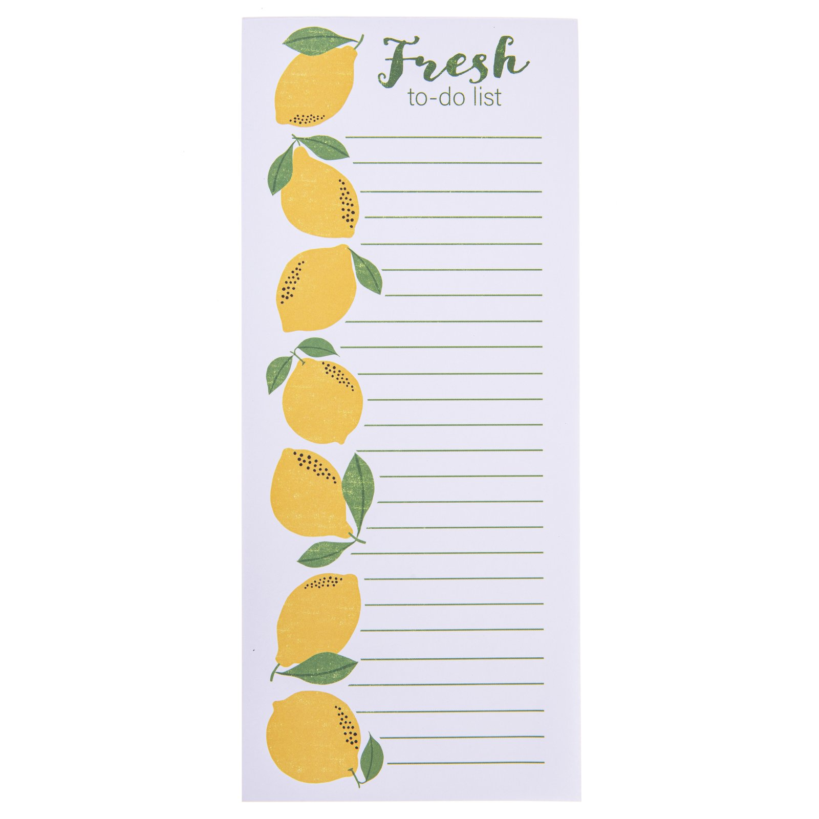 Lemon Fresh Magnetic Notepad