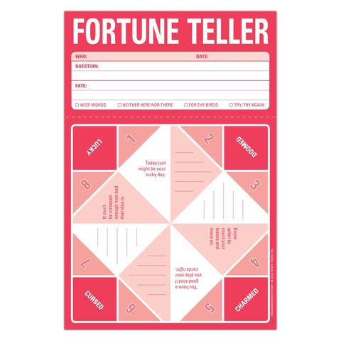 Pad includes Fortune Teller