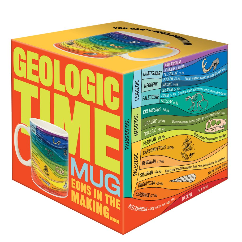 Geologic Time Mug in box
