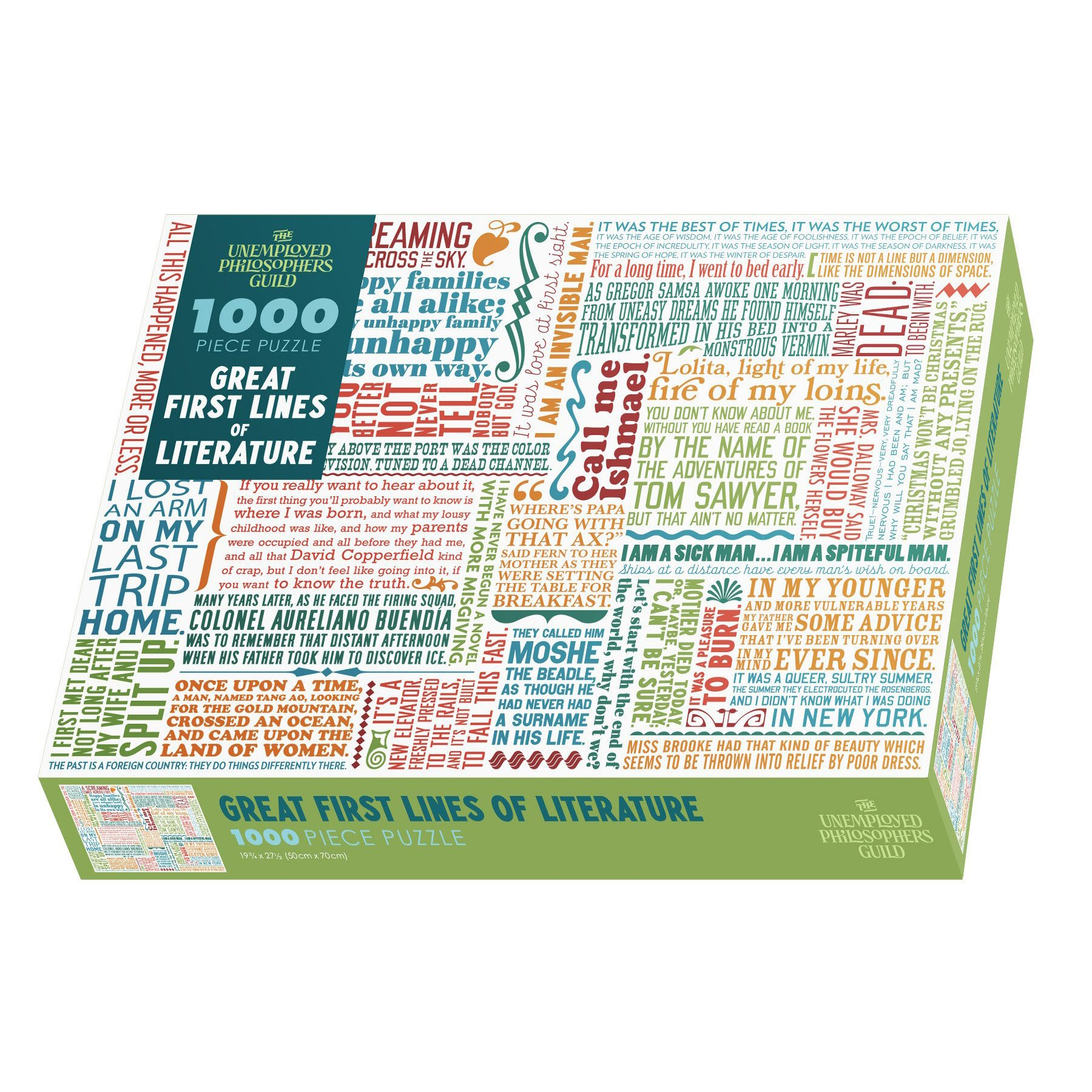 Great First Lines of Literature 1000 Piece Puzzle in Box