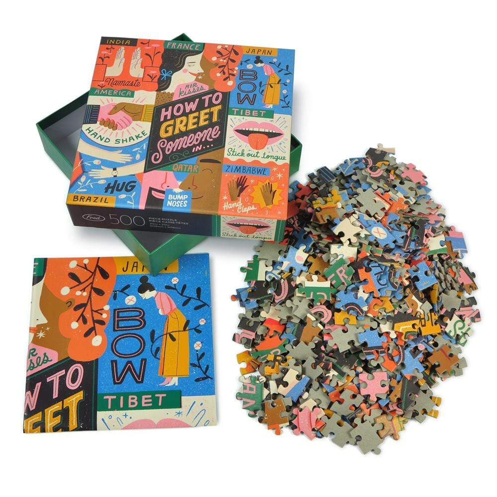 How to Greet Someone 500 Piece Puzzle with insert