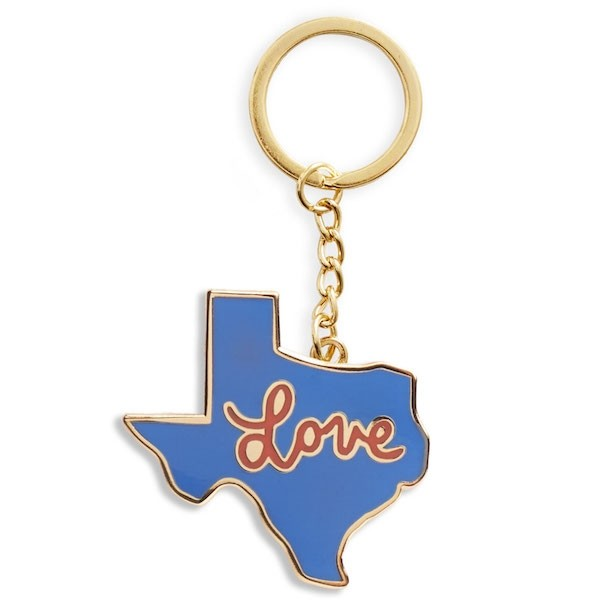 Texas Love Enamel Keychain