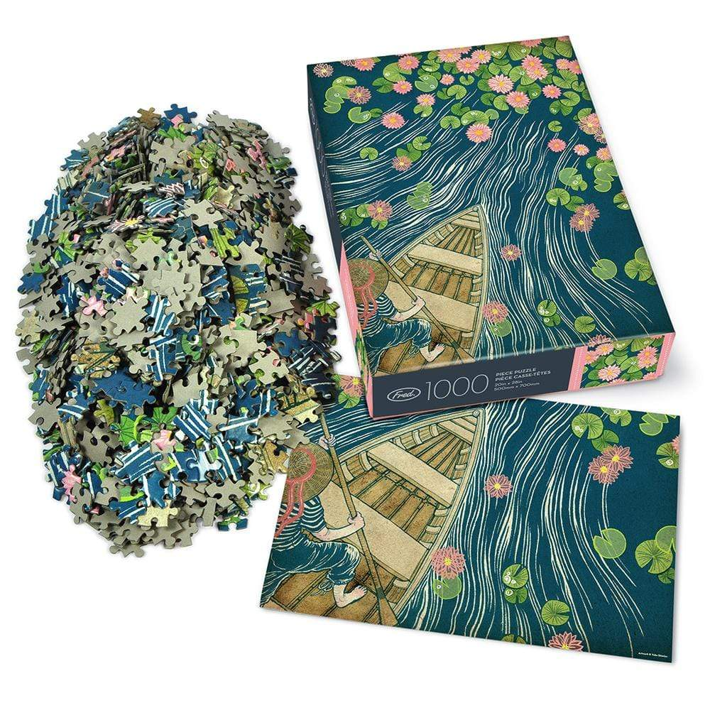 Lilypads 1000 Piece Puzzle with insert
