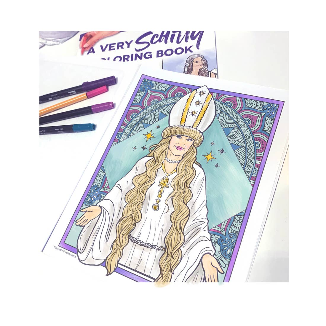 Example page of A Very Schitty Coloring Book