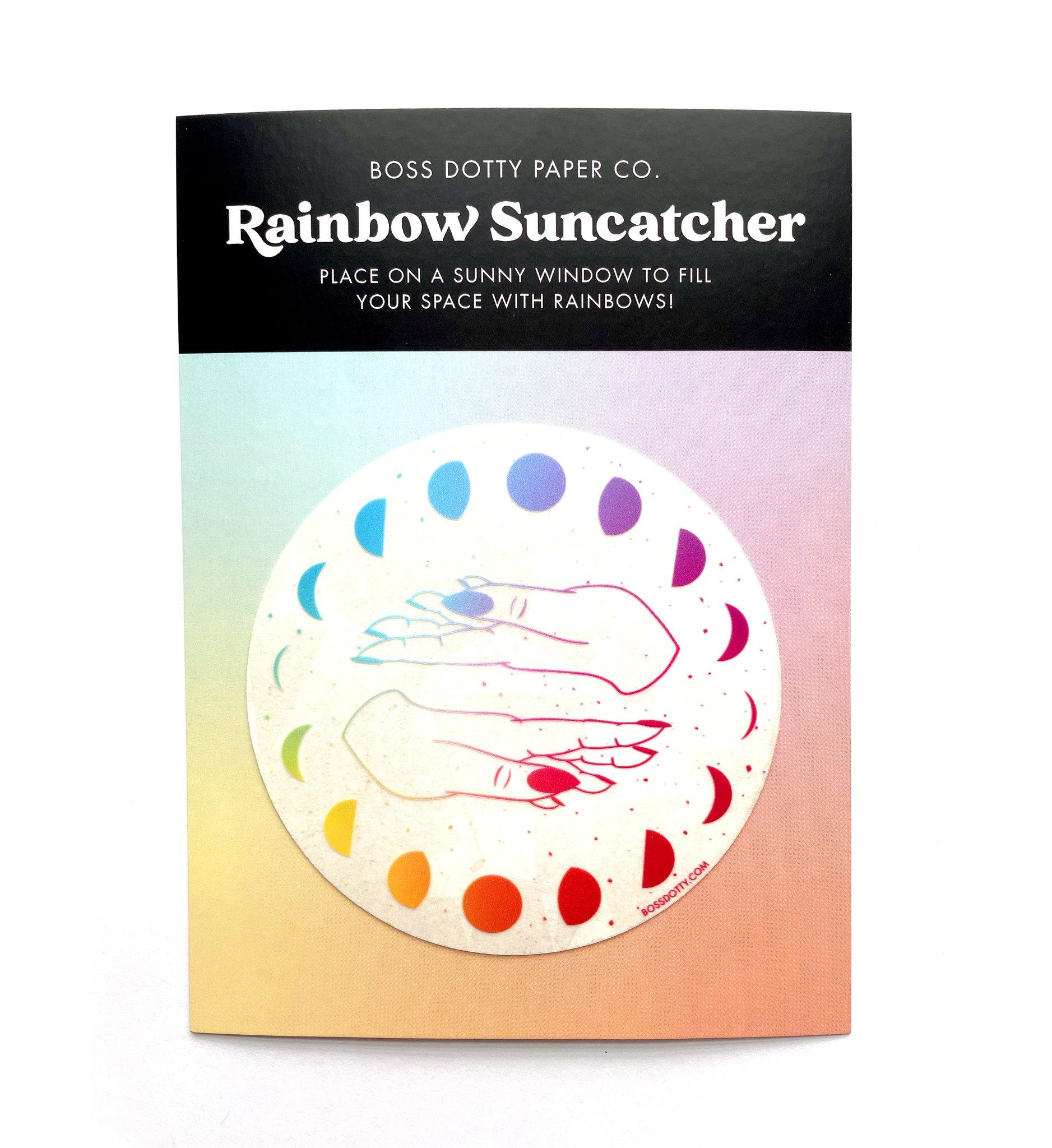 Moon Phases Rainbow Suncatcher Sticker