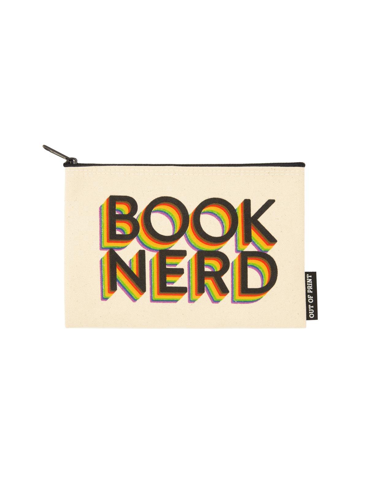 Front of Book Nerd Pride Canvas Zipper Pouch