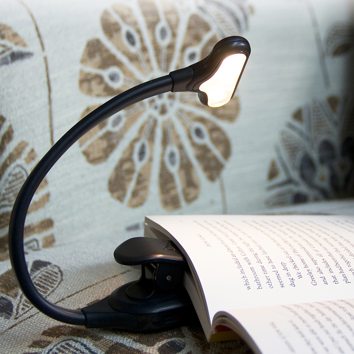 NuFlex Rechargeable Booklight in action