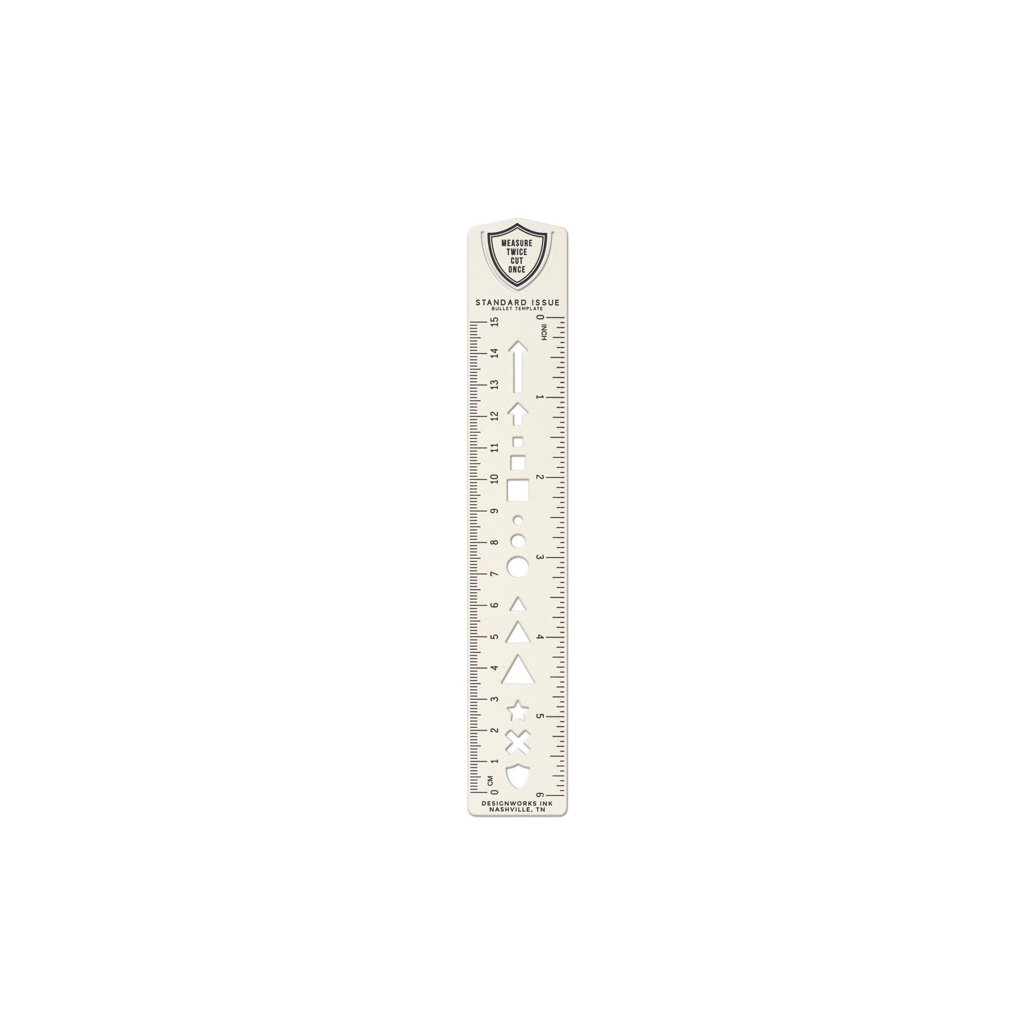 Cream Ruler Bookmark with Bullet Template