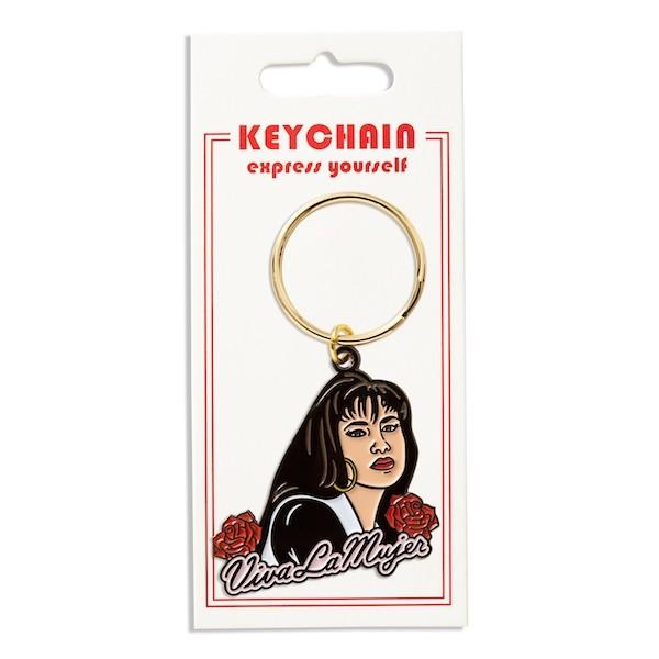 Selena Viva la Mujer Keychain in packaging