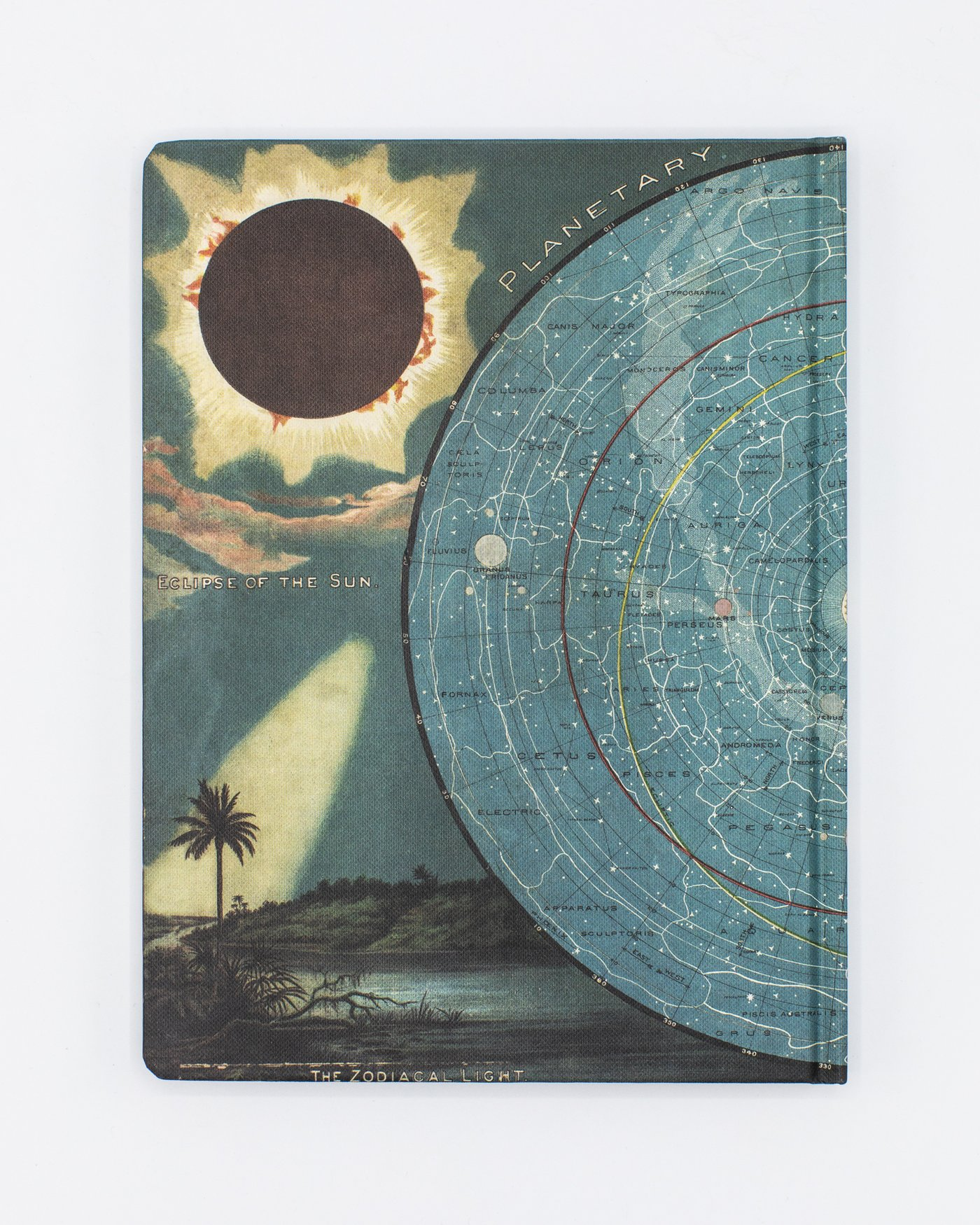 Back cover of Star Map With Moon Notebook